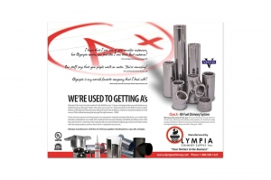 Trade Ad for Olympia Chimney Ventis Class A