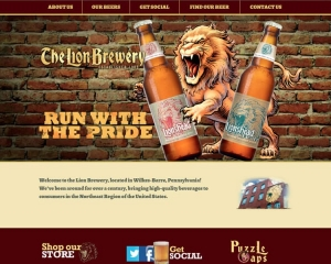 The Lion Brewery CMS Website