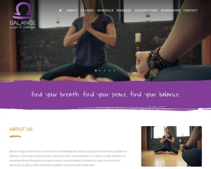 Balance Yoga and Wellness Website