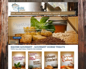 The Equine Gourmet CMS and eCommerce Website
